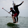 Tandem stand up paddle breton !