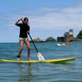 Camille on Stand Up Paddle