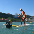 Kassia on Stand Up Paddle