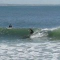 Noosa on Hollow wooden surfboard
