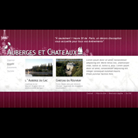 Website AUBERGE CHATEAUX